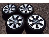 "Genuine 17"" BMW 3 Series E90 Alloy Wheels 225/45R17 Pirelli Run Flat Tyres 158"