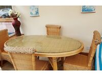 Table and chairs for Patio/Conservatory/dinning room areas.