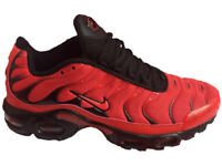 Brand New Boxed Nike Air Max Plus TN Red and Blacks Uk Sizes 6-11