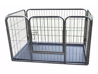 Large Heavy Duty Puppy Play Pen/Rabbit Enclosure with Plastic Floor