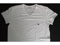 Genuine EMPORIO ARMANI UNDERWEAR Mens V-neck T-shirt White RRP £45
