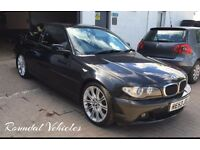 BMW 318 Ci 2.0 coupe 107k metallic black 2003 fully serviced fresh 12 months mot refurbished alloys