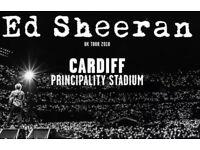 x2 Ed Sheeran Tickets Cardiff Friday 22 June 2018