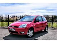Ford Fiesta 1.4 Zetec, 3 door Petrol, Red Long MOT Warranted Mileage