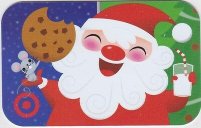 Target Santa Milk Cookie Mouse Holiday Christmas Tree 2017 Gift Card 790-01-2381 Christmas Cookie Gift Card