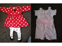 Bundle of baby girl's clothes 0-3