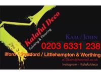 Painter / Floor fitter. We also fit Kitchens & Bathrooms