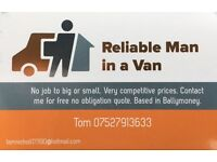 Reliable, Affordable Man with Van Hire