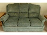 Green Three Piece Suite (3 seater settee & 2 armchairs) Free To A Good Home new owner to collect