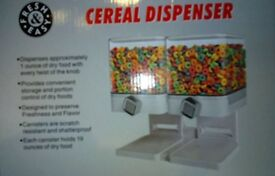 Dual Airtight Cereal And Dry Food Dispenser