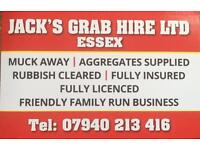 Grab Hire Essex, muck away, garden & rubbish clearance, drive way, cheaper than skips 07940 213416
