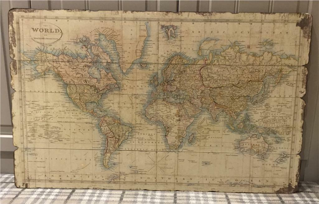 Antique Style World Map Picture In Newcastle County Down Gumtree