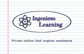 Excellent Private 1-2-1 Tuition for GCSE and ALevel Maths, English, Science tutor Ingenious Learning