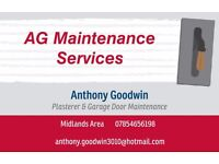 Plaseterer/Garage Door Fitter & Repairs