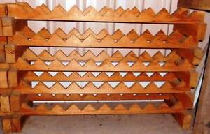 Rustic timber wine rack - holds 50 bottles Deakin South Canberra Preview