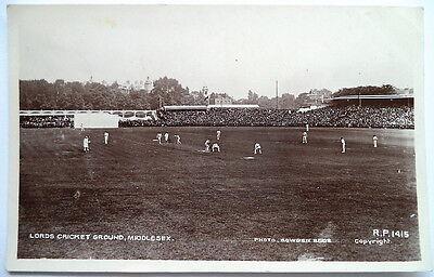 LORD'S CRICKET GROUND 1910 - VINTAGE CRICKET POSTCARD