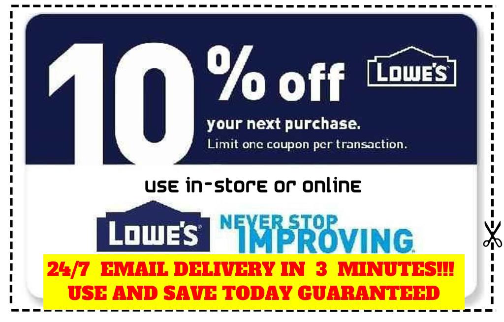 Купить THREE 3x Lowes 10% OFF Coupons Discount - expire 10/31  - Fastest Delivery