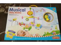 New musical cot mobile