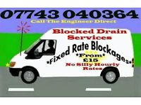 """£15""Blocked Drains & Toilet from""£15"" (I Will Beat Any Quote By 25%) Guaranteed""24/7"""