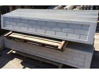 Brick faced concrete gravel board