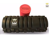 Aesthetics Kingdom 2-in-1 Foam Roller (Muscular Massage): NEW MATERIALS, BEST QUALITY AND VALUE!
