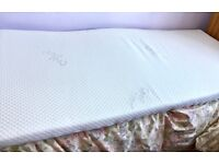 Single bed high density mattress foam topper with removable cover. Hardly used