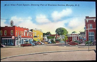 MURPHY NC ~ 1940's DOWNTOWN ~ TRAFFIC LIGHT ~ ESSO GAS STATION & MORE