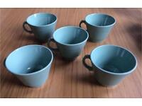Vintage Woods Ware Beryl Green Teacups
