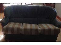 3 Seater sofa with 2 matching arm chairs