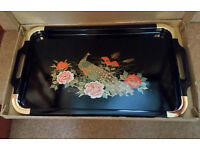 BRAND NEW AND STILL BOXED CHINESE LAQUERED TRAY