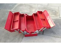 Red Cantilever Tool Box Metal Lockable