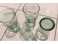 5 X GENUINE Classic Coca Cola Coke Glass