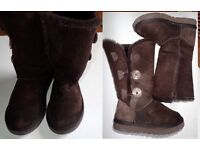 UGG BOOTS REAL SHEEPSKIN CLASSIC TALL 1873 CHOCOLATE BROWN SIZE 5W UK 3 -4