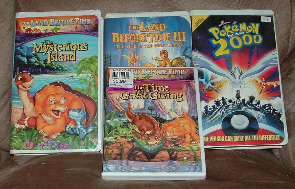 Vhs And Dvd Pokemon Land Before Time Toys Amp Games