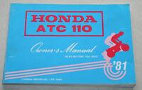 1981 Honda 110 Trike Owners Manual