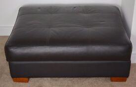 Leather Storage Foot stool