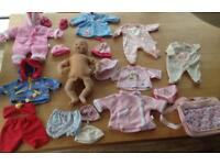 Interactive Baby Annabelle Doll & Clothes Bundle