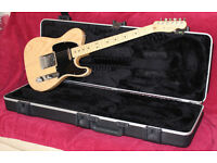 Fender American Standard Telecaster Electric Maple Guitar In Natural