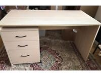 IKEA office desk, drawers and cabinet
