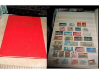 Stamp Album Stockbook over 500 Brit Comm used stamps