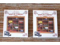 Collectors Display Cabinet x 2 - new, unopened, by Berkertex. £8 each, £14 pair.