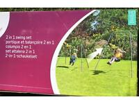 Sold plum 2 in 1 swing set brand new with box