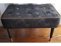 Sherbourne Black Fabric Footstool