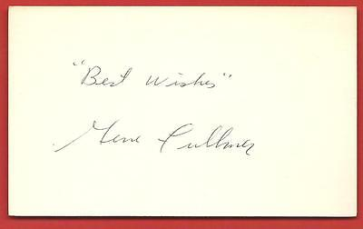 """VINTAGE  AUTOGRAPH  OF   GENE  FULLMER   ON  """"3 X 5""""  INDEX CARD   NO  CREASE"""