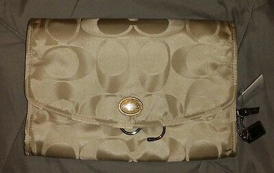 Low Price Cosmetics (NWT COACH Nylon Hanging Cosmetic Travel Bag F 77392 *LOW PRICE* FREE)