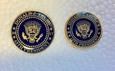 Support Donald Trump Presidential Seal 45Th 2017 Lapel Pin Set Of 2 Blue Gold