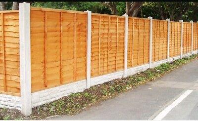 10 bay fencing kit inc Waney lap Panels/ Conc Posts/Conc Gravel boards/postmix