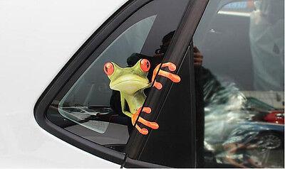 Funny 3d Peep Frog Decorative Decal Vinyl Graphics Sticker