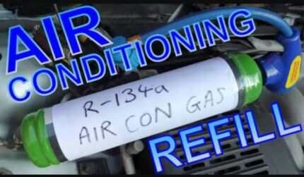 RE-GASSING CAR AIR CONDITIONER