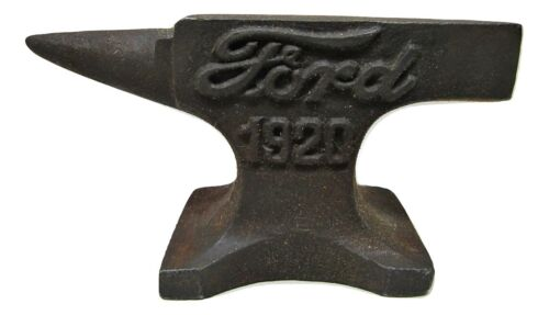 "Small Miniature Rustic Raised Letter Ford 1920 4"" Cast Iron Anvil Jeweler Hobby"